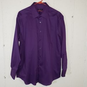 Van Heusen flex slim fit 16.5 32/33 purple shirt